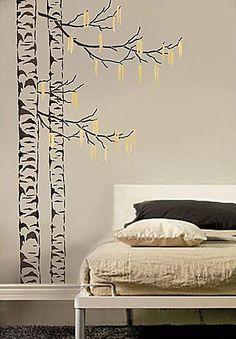 soo beautiful... Cutting Edge Stencils - Beautiful Birches, 5 pc kit, Large Tree Stencils