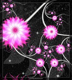 Fractal Flowers Roses | Fractal pink flowers 'S PNG by Sophie-Y