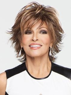 Raquel Welch wigs are the ultimate in glamour. You'll love the instant beauty enhancement achieved from this wide variety of Raquel Welch wigs. Short Shag Hairstyles, Short Hairstyles For Women, Wig Hairstyles, Short Haircuts, Sassy Haircuts, Hairstyles For Over 60, Highlighted Hairstyles, Shaggy Short Hair, Hairstyle Hacks