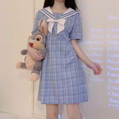 Japan Fashion, Kawaii Fashion, Origin Clothing, Girl Outfits, Cute Outfits, Stylish Outfits, Fashion Outfits, Uniform Dress, Sailor Dress
