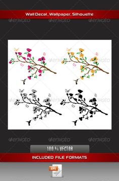 Flower Wall Decal  #GraphicRiver         Beautiful Flower Branches Wall Decal     Created: 20August12 GraphicsFilesIncluded: VectorEPS Layered: No MinimumAdobeCSVersion: CS Tags: beautiful #bird #branch #butterfly #decal #decoration #decorative #design #fauna #feather #floral #foliage #graphic #humming #illustration #leaf #nature #outdoor #silhouette #small #songbird #sparrow #spring #stem #sticker #summer #tree #twig #wall #walldecal