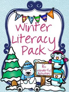 Winter Literacy Pack 16 Wonderful literacy activities for the winter months. Have students practice contractions, punctuation, writing and more! Great for grades 1-3!