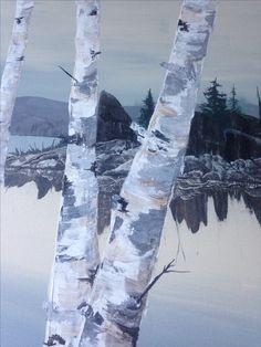 Birch in acrylic