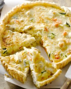 Quiche with vegies Quiches, Easy Snacks, Easy Healthy Recipes, Healthy Pizza, Easy Cooking, Cooking Recipes, Beignets, Dutch Recipes, High Tea