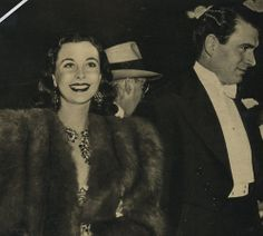 "Vivien Leigh and Laurence Olivier at the ""Gone with the Wind"" premiere in Atlanta."