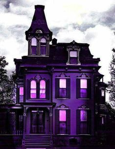 Purple Home . Purple Home, Shades Of Purple, Deep Purple, Color Violeta, Second Empire, Purple Aesthetic, Aesthetic Dark, Gothic House, Gothic Mansion