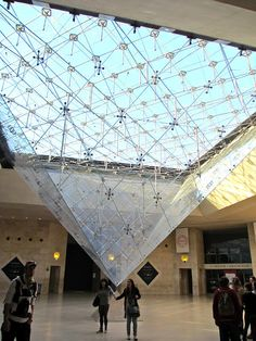 The Pyramid, Architect I.M. Pei, The Louve, Paris France