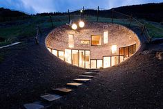 Underground Home Designs - Swiss Mountain House Rocks! - collaboration between the Netherlands architects at SeARCH and Christian Muller Architects.