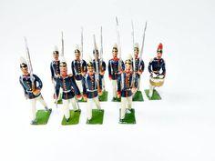 alte Zinnsoldaten Preußische Infanterie Parade Firma Heyde Dresden um 1910…