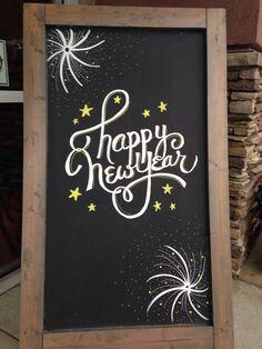New year chalkboard