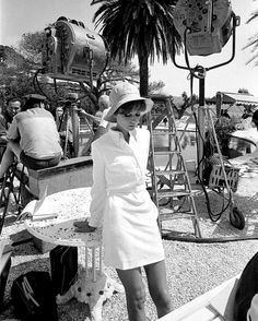 Audrey Hepburn. On the set of 'Two For the Road', 1967.