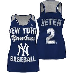 New York Yankees Derek Jeter Ladies Champ Sleeveless Player Fashion Top by Majestic Athletic - MLB.com Shop