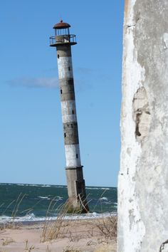 Kiipsaare lighthouse is located on the tip of Harilaid peninsula in Saaremaa, Estonia. It was built from reinforced concrete in By Margus Rebane Pisa Tower, Lighthouse Photos, Beacon Of Light, Let Your Light Shine, Sea And Ocean, Lighthouse Keeper, Le Moulin, Belle Photo, Reinforced Concrete
