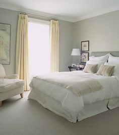 If ever there was a soothing bedroom, this would be it.