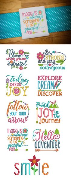 9 gorgeous and inspiring word art designs! Available for instant download at designsbyjuju.com