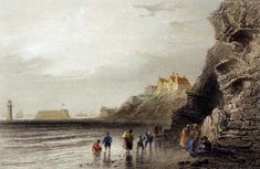 From Wikiwand: New Brighton sea front, with lighthouse and Fort Perch Rock, c. 1840