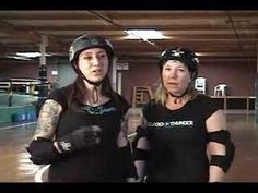 Here's To The New Ulm Roller Derby Girls....Backward whips and blocks with Bonnie D. Stroir and Lemon Drop
