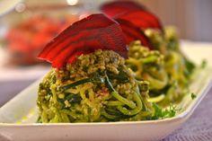 Vegie Head » Rustic raw pesto 'pasta'….