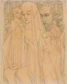 Jan Toorop, Heilige familie met Johannes de Doper - 1920