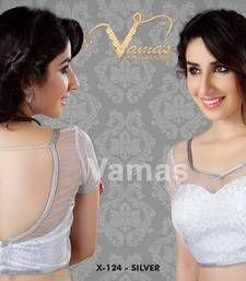 Online Shopping for Inner cut pattern Saree Blouse. Net Saree Blouse, Sari Bluse, Saree Blouse Patterns, Netted Blouse Designs, Bridal Blouse Designs, Blouse Neck Designs, Blouse Styles, Designer Blouses Online, Net Blouses
