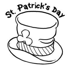 st patricks day a shamrock wearing hat on st patricks day coloring page a shamrock wearing hat on st patricks day coloring page coloring pinterest - Leprechaun Hat Coloring Page