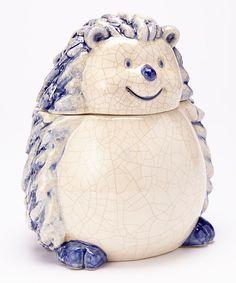 Blue Hedgehog Cookie Jar