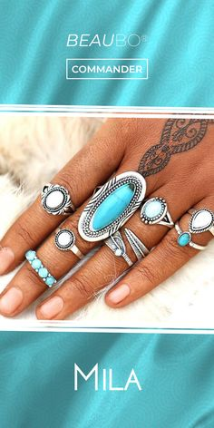 Coups, Moment, Turquoise, Rings, Collection, Jewelry, Fashion, Trends, Moda