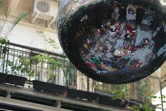 Disco ball in Budapest bar