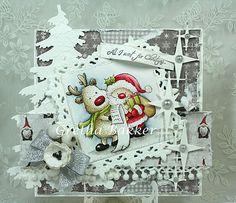 Het kaartenhoekje van Gretha Holiday Cards, Christmas Cards, Christmas Ornaments, Holiday Decor, Natal Diy, Christmas Feeling, Pretty Cards, Xmas Crafts, Mail Art