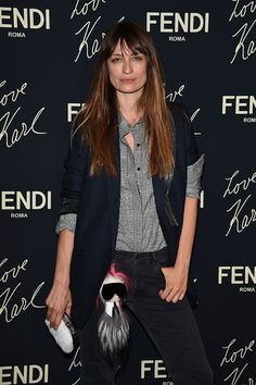 Caroline De Maigret Fendi Party Couture Fashion, Paris Fashion, Jeanne Damas, Photo Report, French Models, Party Looks, Front Row, Fendi, Bomber Jacket