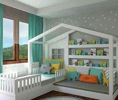 En esta ocasión quiero compartirte 25 diseños de camas infantiles las cuales te podrán servir de inspiración para cuando tengas que decorar la habitación de tus pequeños. Llega un punto en el que nuestros hijos necesitan tener un espacio propio para que comiencen a desarrollarse de mejor manera en un entorno normal y mas independiente. Así que espero que te gusten muchisimo todas las opciones que encontré para compartirte me parecieron las mejores ideas para niños espero que te gusten tanto…