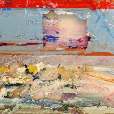 This painting is becoming more whole the more I take away. Seems quite in tune with our times! Scraping back through layers of paint. Evidence of what was there. #art #painting #studio #detail #contemporayart #comingtogether #deconstruction #folkestoneisanartschool #antiaesthetic #beautiful