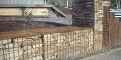 Gabion baskets garden edging and retaining wall