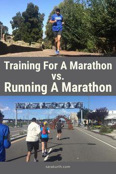 Training For A Marathon vs. Running A Marathon ·-Running, Training, Marathon Marathon Training Plan Beginner, Marathon Tips, First Marathon, Half Marathon Training, Boston Marathon, Marathon Recovery, Marathon Preparation, Marathon Quotes, Marathon Plan