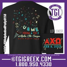 TGI Greek - Alpha Chi Omega - Sorority Date Party - Greek T-shirts - #tgigreek #alphachiomega