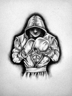 Art Drawings Sketches, Tattoo Drawings, Kick Boxing, Boxing Tattoos, Boxing Gloves Tattoo, Muay Thai Tattoo, Muay Thai Martial Arts, Boxing Images, Boxing Posters