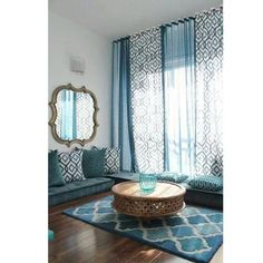 salon bleu style oriental - Chambre Orientale Bleue