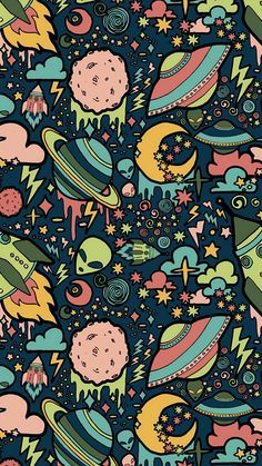 Texture, patterns, aliens, rockets, space wallpaper - Best of Wallpapers for Andriod and ios Graffiti Wallpaper Iphone, Pop Art Wallpaper, Trippy Wallpaper, Wallpaper Space, Iphone Background Wallpaper, Tumblr Wallpaper, Galaxy Wallpaper, Aesthetic Iphone Wallpaper, Aesthetic Wallpapers