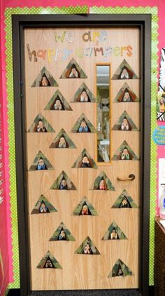 Ever thought of doing a camping theme in your classroom? We stumbled across this adorable door display created by the talented Cara Carroll of The First Grade Parade and were inspired by the fun. Forest Classroom, Classroom Door, Preschool Classroom, Classroom Themes, Kindergarten, Classroom Camping Theme, Classroom Secrets, Camping Room, Preschool Decor
