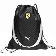 Scuderia Ferrari Replica Gym Sack #ferrari #ferraristore #puma #sack #zaino #black #nero  #prancinghorse #cavallinorampante #accessories #accessori