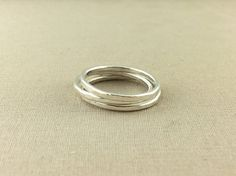 Stacking Silver Ring // sterling silver stacking rings by Lemesto