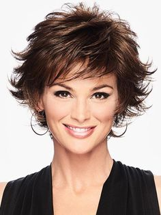Textured Flip Wig by Hairdo – Heat-Friendly Synthetic – The HeadShop Wigs Textured Flip – Heat Friendly Synthetic Wig Short Brown Hair, Short Hair With Layers, Short Hair Cuts For Women, Layered Hair, Short Thick Wavy Hair, Straight Hair, Short Shag Hairstyles, Short Textured Haircuts, Short Choppy Haircuts