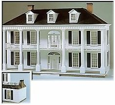 Rosedawn Plantation, Kit is in my shop, I'm ready to build this dollhouse for you! .....Rick Maccione-Dollhouse Builder www.dollhousemansions.com