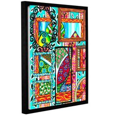 Mirrors of Reflections by Debra Purcell Floater Framed Painting Print on Wrapped Canvas