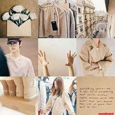hunrene moodboard - cr: @mooxboard Mood Boards, Korean, Ruffle Blouse, Coat, Jackets, Fashion, Down Jackets, Moda, Sewing Coat