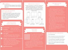 This was a self-motivated project where I wanted to create a 'how to' brochure. I also limited myself by only using two colors throughout the design.