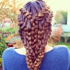 Braid galore! We are lovin what @hairandnailinspiration calls the #bohemian pancake #dutch style #braid! See more AMAZING braids @hairandnailinspiration!