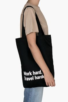 Bold Tuesday - Travel Tote Bag Work Hard With A Pocket & Lanyard Travel Tote, Travel Gifts, Best Tote Bags, Sling Backpack, Gym Bag, Reusable Tote Bags, Backpacks, Tuesday, Keys