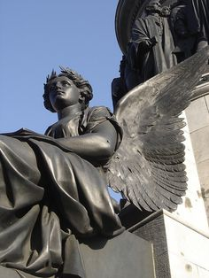 Dublin, Ireland,  look close and you can see bullet holes in the angel from the Easter uprising of 1916