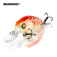 Bearkingホットモデルプロフェッショナルa +釣りルアー、10色のための選択、ミノー、クランク35ミリメートル3.7グラム、ダイブ2.0メートル釣りタックルハード餌
